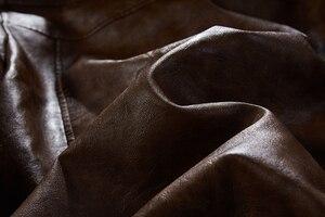 Image 5 - גברים של עור מפוצל מעיל גברים אופנוע הוד חורף מעיל גבר חם מקרית עור מעילי זכר Slim Fit מחבל מעיל רוח