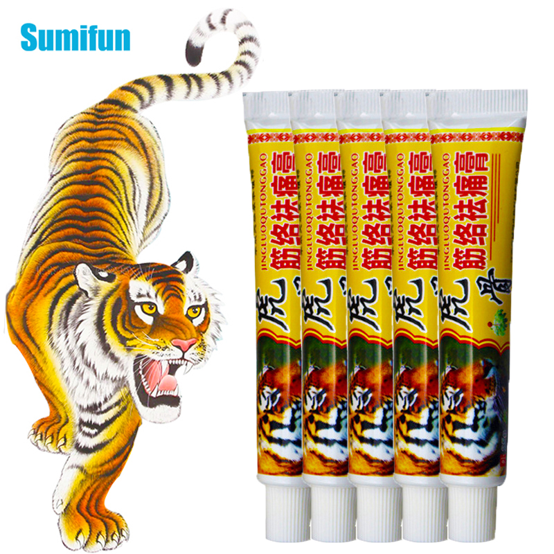 5pcs Tiger Balm Ointment For Rheumatoid Arthritis Joint Back Pain Relief Chinese Herbs Medical Plaster Analgesic Cream D2368