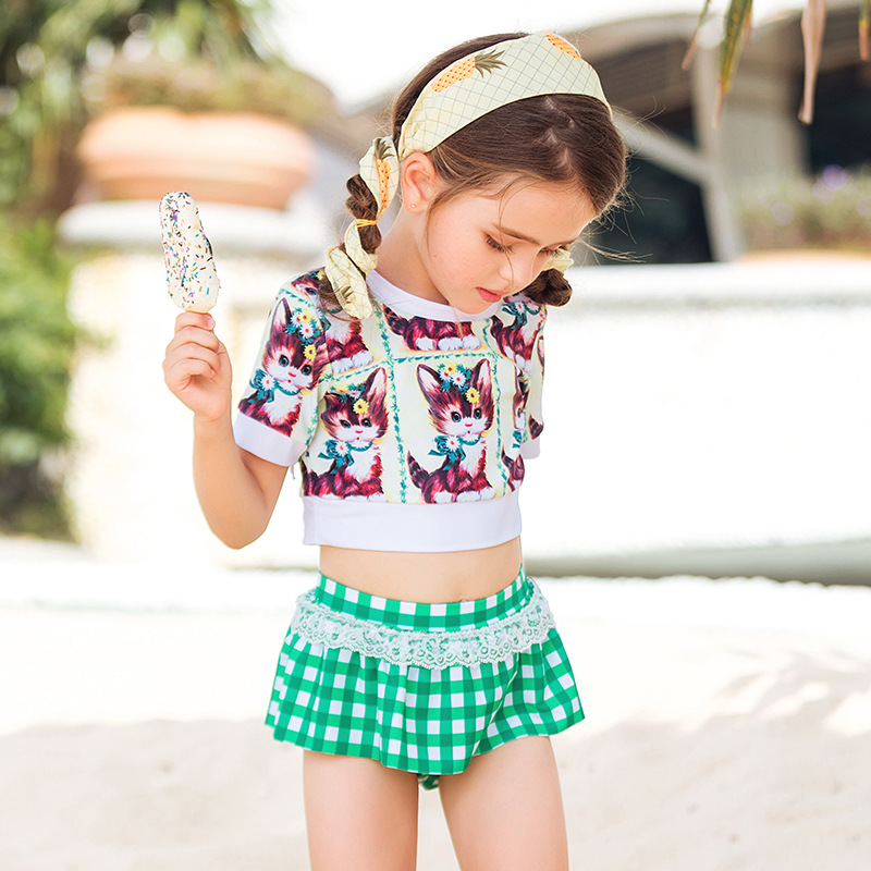 New Style Korean-style Princess Dress-CHILDREN'S Swimwear Cute Girls GIRL'S Swimwear Small Middle And Large Baby Split Type Swim