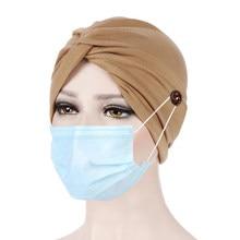 Femmes musulmanes Hijab Turban casquette front croix cheveux écharpe chapeau couleur unie islamique chapeaux inde Bonnet dame intérieur élastique casquettes
