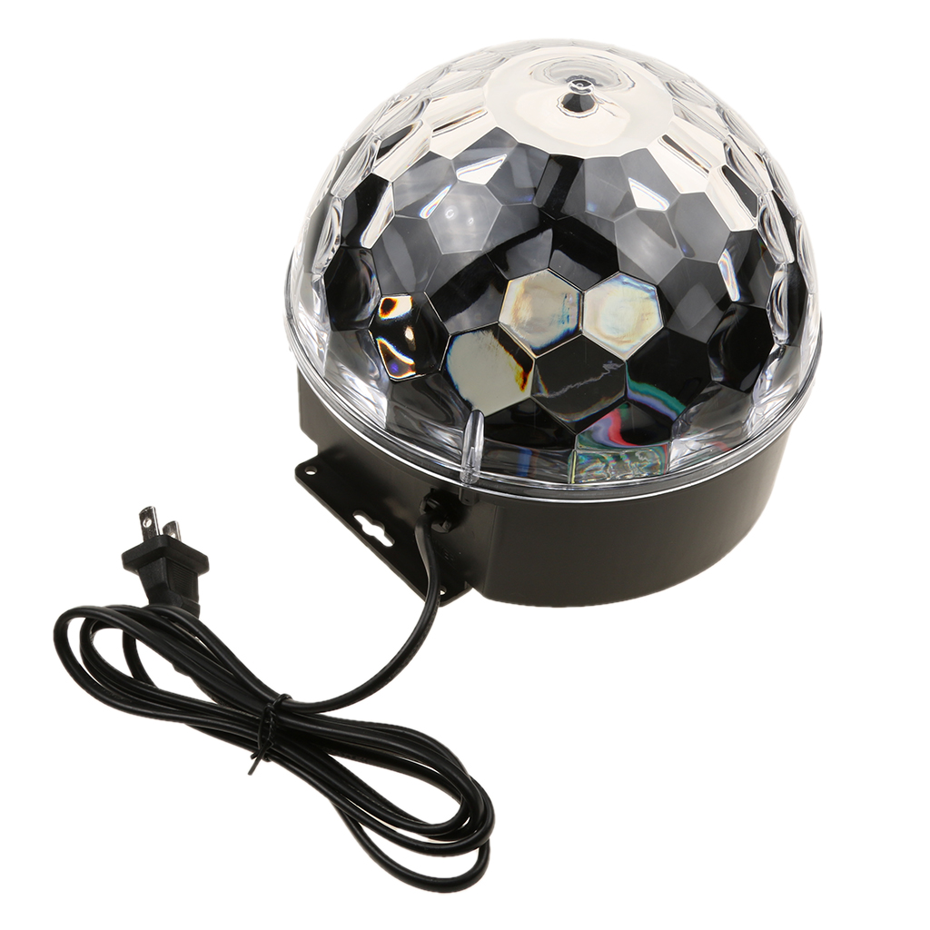 9 Colors RGB Magic Crystal Ball Stage Lighting Effect LED Light Lamp For Party Wedding US Plug