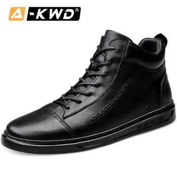Czarne trampki męskie błyszczące Bambas Hombre peeling jesień pojedyncze buty męskie sznurowane mężczyźni skórzane buty z futerkiem odporne na zużycie buty sportowe mężczyźni Plus rozmiar buty 38-45 skórzane prawdziwej skóry buty-męskie wysokie tanie i dobre opinie AI-KWD Skóra bydlęca Gumowe Wiosna jesień NONE Dla dorosłych 2019ZY1802 chassure homme hombre cuero genuino borracha