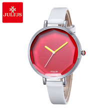 Julius Lady women Wrist Watch Quartz Hours Best Fashion Dress cute Retro Bracelet Mixed Colors Leather Girl Birthday Gift JA-534 цена