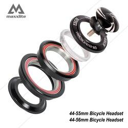 Maxxlite alumínio 44-55mm 44 -- 56mm mtb bicicleta fone de ouvido cabeça da bicicleta de estrada 28.6mm(1-1/8) garfo reto para/1.5 garfo de tubulação de atarraxamento