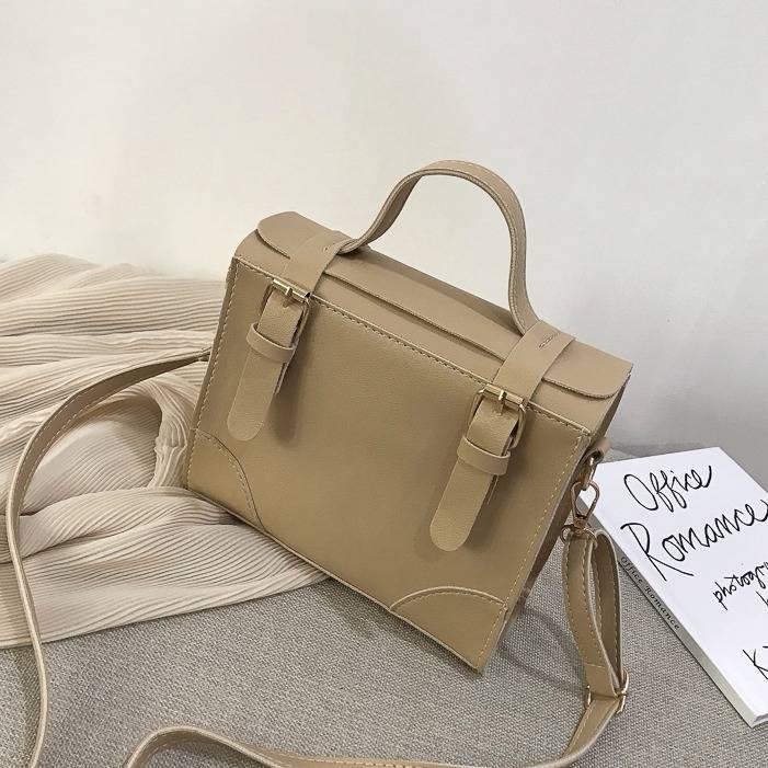 Female Bag 2019 New Korean Version Of The Messenger Bag Handbag Retro Retro Square Bag