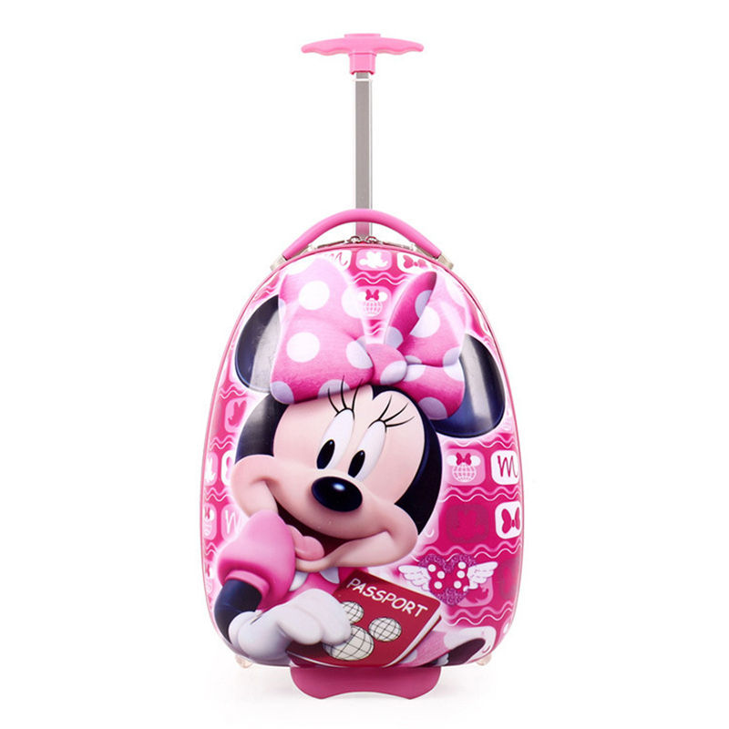 Girls Anime Trolley Suitcase Kids Climb The Stairs Children School Bags With 2 Wheels For Girls Removable Trolley Bag