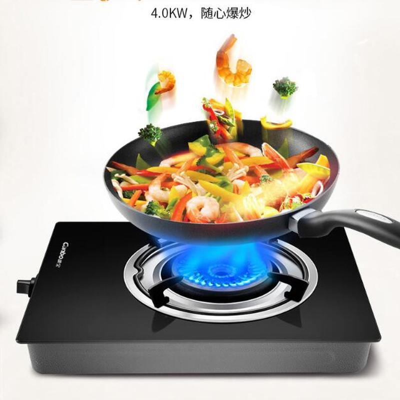 Cuisinière à gaz cuisinière simple ménage économiseur d'énergie féroce feu cuisson banc Type gaz naturel liquide unique la tête de cuisinière