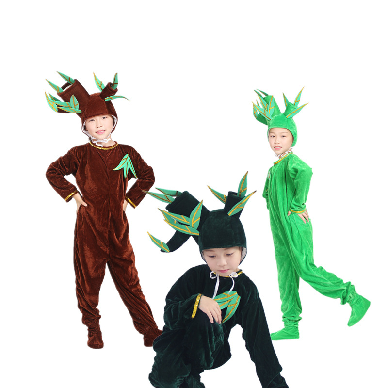 New Style Students Dance Children Stage Rose Performance Malt Tree Grass Adult Parent And Child Performance Wear