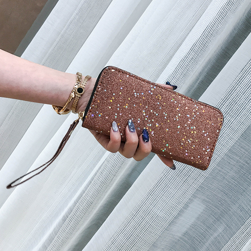 Sequin Wallet Long Wallet Multi-Card Ladies Mini Coin PurseLuxury Purse Wallet Cases Coin Purses Women Purse