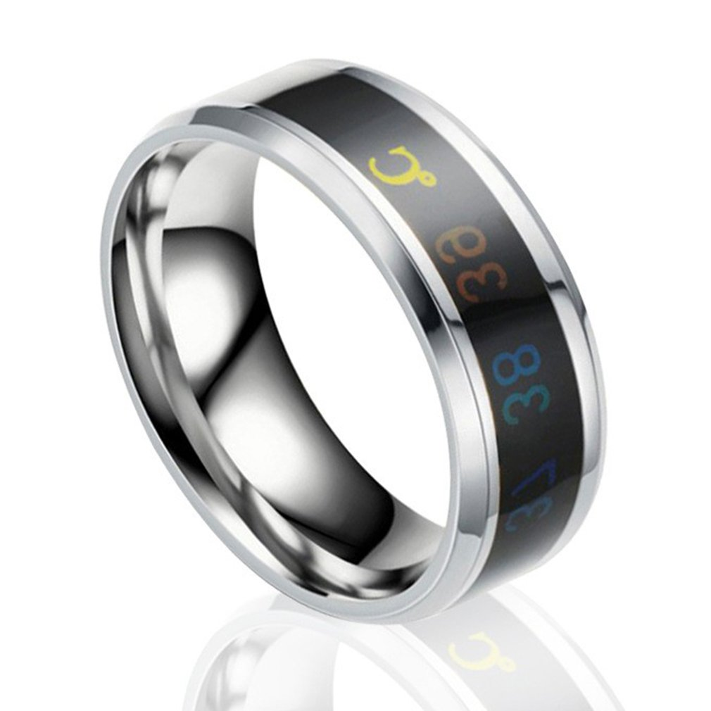 Ring For Lovers Smart Temperature Ring Mood Temperature Display Men Women Ring Perfect Gift Delicate Elegant
