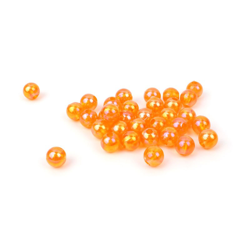 100 Pcs Hard Glowing Fishing Beads Floats Round Stopper Luminous Beads Fishing Accessories Bulk Float For Night Fishing Bean