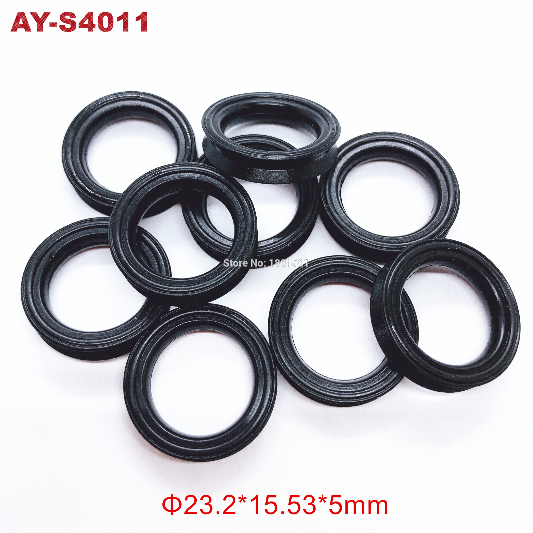 200pieces FKM Rubber Seals 23.2*15.5*5mm For Toyota Lexus Fuel Injector Repair Kits For Tundra(AY-S4011)