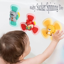 New 3pcs/set Spinning Top Baby Sucker Top Toy Creative Bath Swimming Water Toys Suction Cup Fun Game Baby DIY Teether Toys