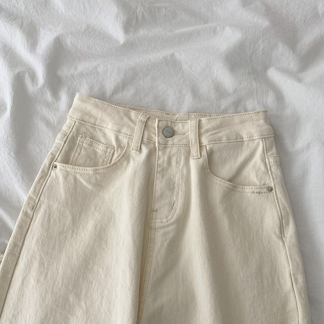 Baggy Jeans in beige