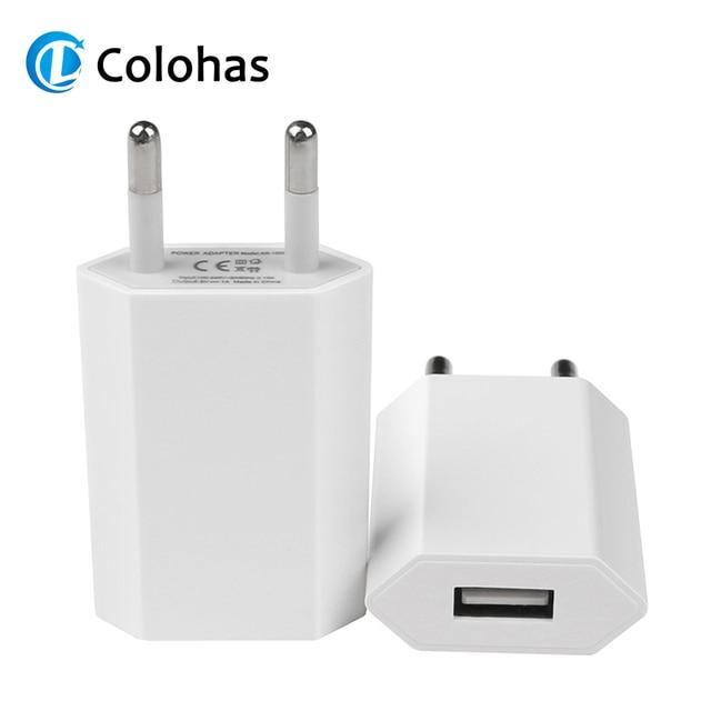 뜨거운 판매 고품질 유럽 EU 플러그 USB AC 여행 벽 충전 충전기 전원 어댑터 애플 아이폰 6 6S 5 5S 4 4S 3GS