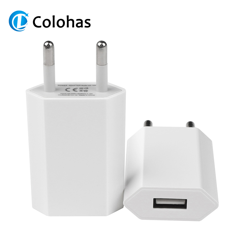 Hot Selling High Quality European EU Plug <font><b>USB</b></font> AC Travel Wall Charging Charger Power Adapter For Apple iPhone <font><b>6</b></font> 6S <font><b>5</b></font> 5S 4 4S 3GS image