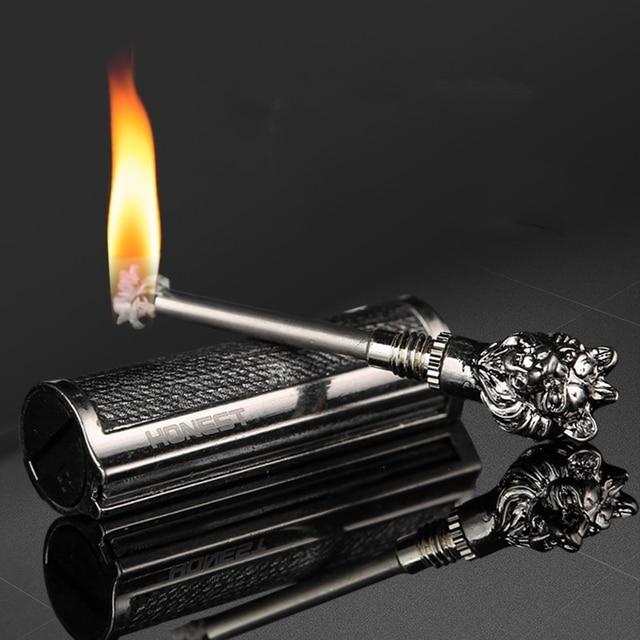 New Metal Waterproof Permanent Match Lighter Keychain Flint Fire Starter Free Fire Kerosene Oil Gasoline Outdoor Survival Tool 1