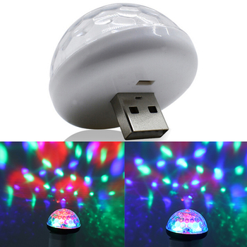 1x Car USB RGB Mini Interior Atmosphere Neon Light Colorful Music LED Decor Lamp image