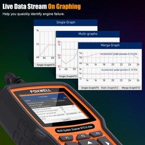Image 5 - FOXWELL NT510 Elite All System OBD2 автомобильный сканер ABS Bleeding DPF TPMS BMS считыватель кодов масла Профессиональный сканирующий инструмент