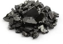 Pedras de elite shungite para purificação de água, 25 g de brilho prateado raw elite noble shungite desintoxicação pedras para água fil