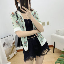 Spring And Summer New Style WOMEN'S Dress Western Style Robot Real Silk Small Cardigan Sun-resistant Coat(China)