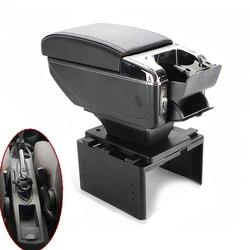 Dla Ford Focus mk1 podłokietnik uniwersalny główny schowek w podłokietniku w samochodzie akcesoria do modyfikacji USB ładowanie