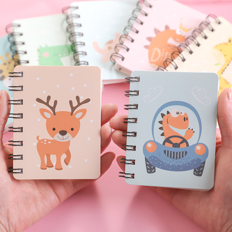 Kawaii Cartoon Animal Park Spiral A7 Notebook Daily Weekly Planner Blank Paper Note Book Time Organizer School Supplies