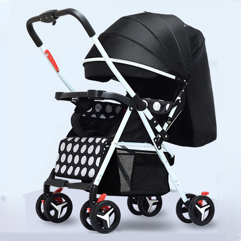 Portable Baby Stroller Shock-resistant Foldable Baby Carriage Lightweight Compact Newborn Infant Travaling Pram with Free Gifts