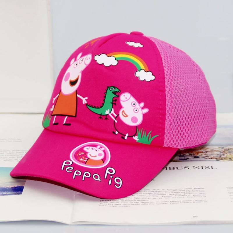 Fille chapeau 2-8 ans Peppa cochon casquette casquettes de Baseball soleil ombre soleil chapeaux dessin animé Figure George jouets cadeau d'anniversaire