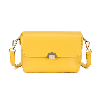 Discount new 2020 Fashion Handbag For Women Small yellow Leather Luxury Dames Party Designer High Quality Shoulder Messenger Bag