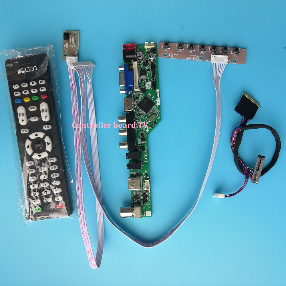 Kit For N156BGE-L11/L21/L31/L41 Panel Screen TV AV 40pin LVDS VGA Remote 1366X768 USB HDMI LCD LED Controller Driver Board 15.6