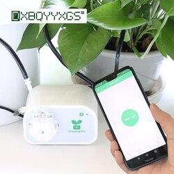Controle do telefone móvel inteligente jardim automático rega dispositivo suculentas planta ferramenta de irrigação por gotejamento bomba água sistema temporizador