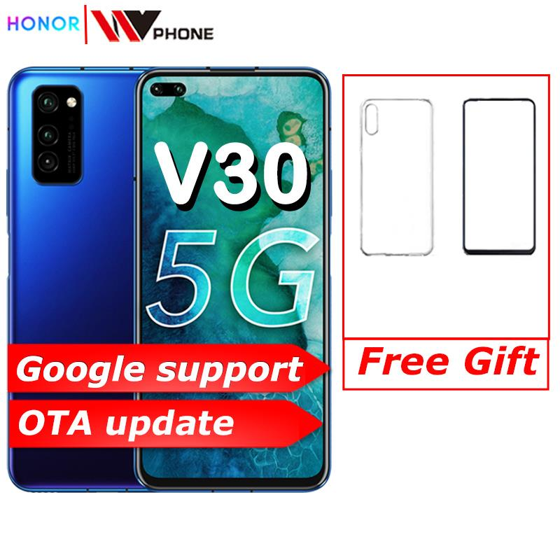 Oryginalny Honor V30 Kirin990 Octa core smartfon 5G 6GB 8GB 128GB 40mp potrójne kamery 40W superCharge telefon komórkowy 5G