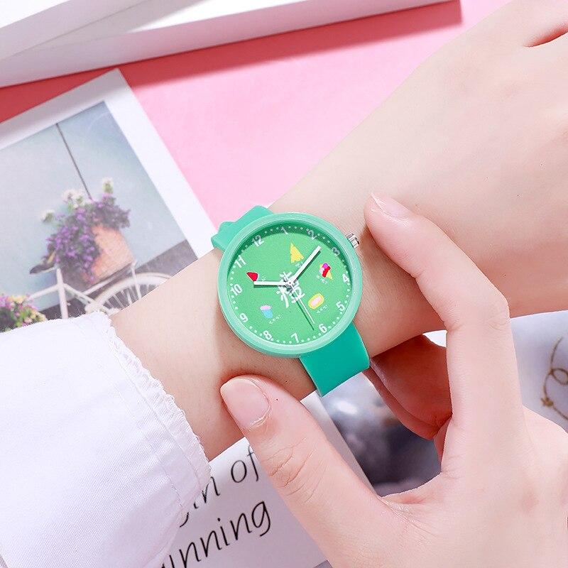 For School Student Watch For Children's Wrist Watches Fashion Safety Silicone Watchband Kids Clock Waterproof Boy Kids Hour 3079