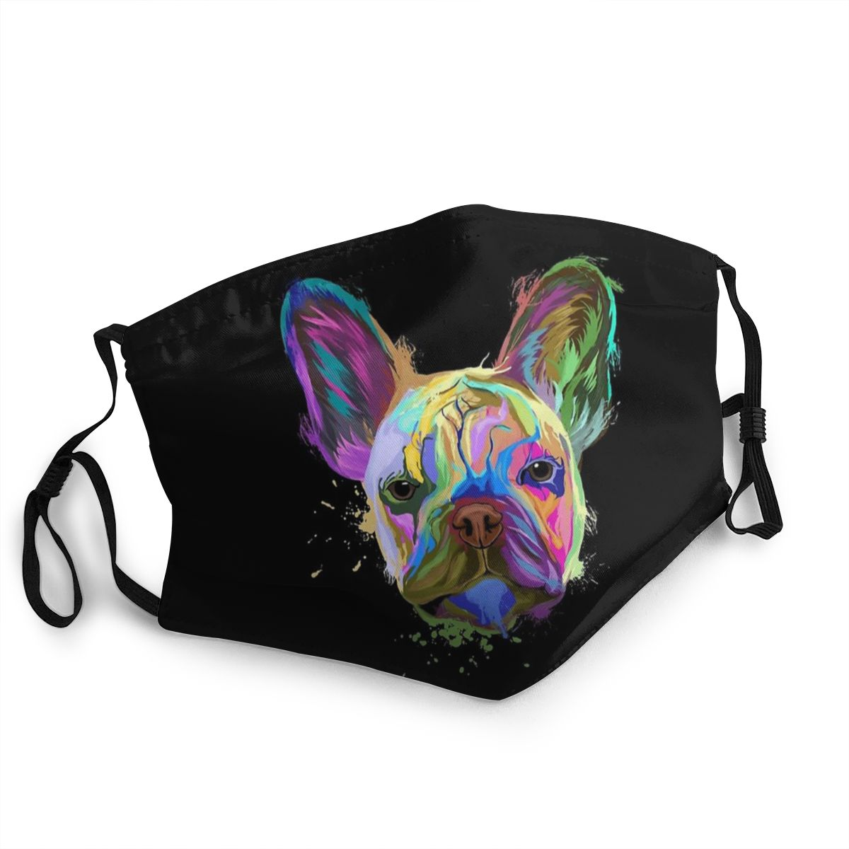 French Bulldog Adult Reusable Face Mask Dog Animal Pet Puppy Anti Haze Dustproof Protection Cover Respirator