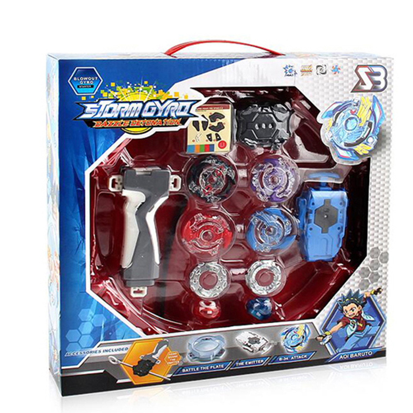 Bayblade Burst Stadium Arena Bayblade Metal Funsion 4D Blades Toys With Launcher And Handle With Box