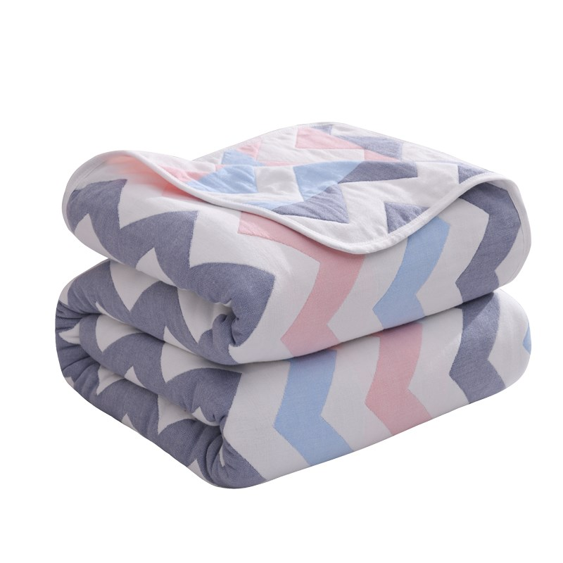 Grey Checkered Quilt Baby Blanket Thicken Six Layer Cotton Infant Swaddle Stroller Wrap For Newborn Baby Bedding Blankets