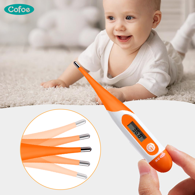 Cofoe Digital Electronic Thermometer Soft Tip Fever Thermometer Body Temperature&ovulation Measurement For Baby&Children&Adults