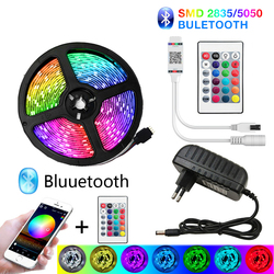 Bluetooth 30m LED Strip Lights 20M RGB Waterproof LED Light 5M 10M Tape Diode DC 12V 15 2835 5050 SMD RGB strip Luces Led strip