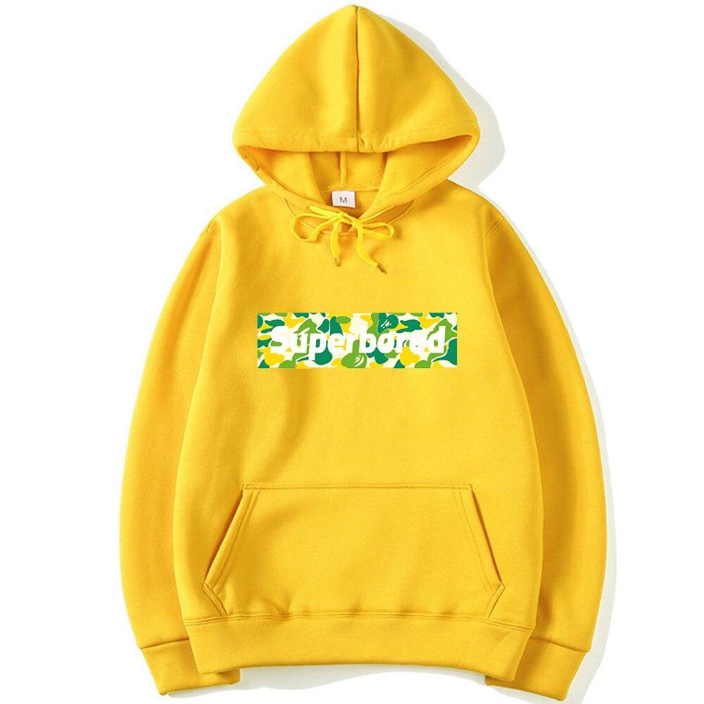 Camouflage Letter Funny Printed Men Hoodies 2019 Autumn Winter Fleece Sweatshirt Stranger Things Hip Hop Streetwear Men Hoody