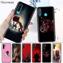 Silicone Case Cover for Huawei P30 P20 P10 Mate 30 20 10 Lite Pro P Smart Z Plus 2019 Nova 5i Shell Deadpool Dead Pool Funny