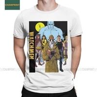 Watchmen-camisetas de algodón puro para hombre, camisa de manga corta con estampado de Héroes, Smiley, Dr, Brooklyn, Novel, Alan, Mori, Emo, Nihilist, novedad
