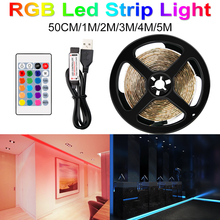 цена на DC 5V LED Strip USB Cable Power Flexible Light Lamp SMD 2835 50CM 1M 2M 3M 4M 5M Light Strip RGB Warm Cool White Desktop Screen