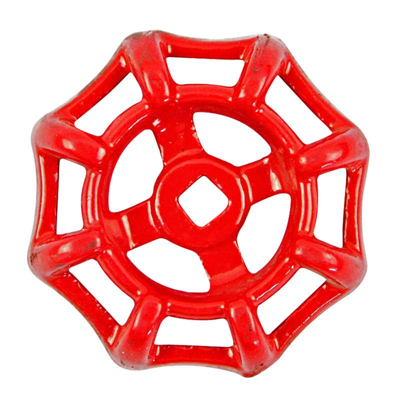 6x6 Cast Iron Valve Handle Gate Valve Ball Valve Hand Wheel Shutoff Value Decorative Water Pipe Fittings 50g (Red)