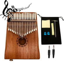 Gift Thumb-Piano Kalimba Musical-Instrument Electric-Pickup Party 17-Keys EQ Play W/cable