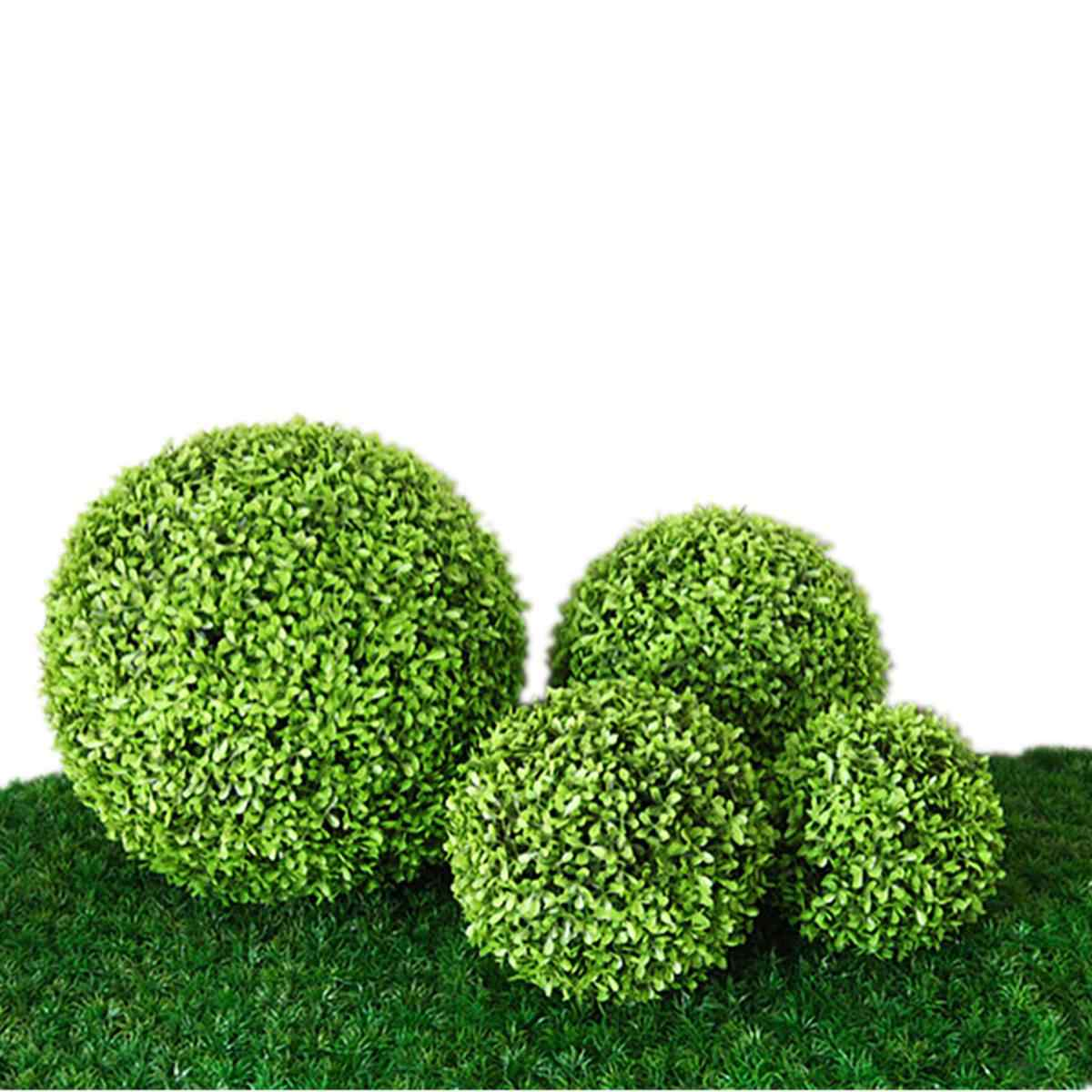 Leave-Ball Grass Ball Plant Ornament Artificial Green Plastic Plant Simulation Ornament Party Garden Decoration