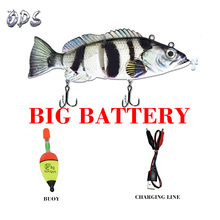 Robotic Swimming Lures Fishing Auto Electric Fishing Lure Bait Wobblers For Swimbait USB Rechargeable Flashing LED light