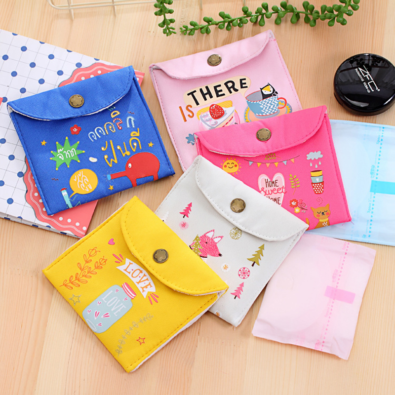 Sanitary Pads Pouch Sanitary Napkin Storage Bag Sanitary Bags Key Storage Bag Coin Purse Credit Card Package