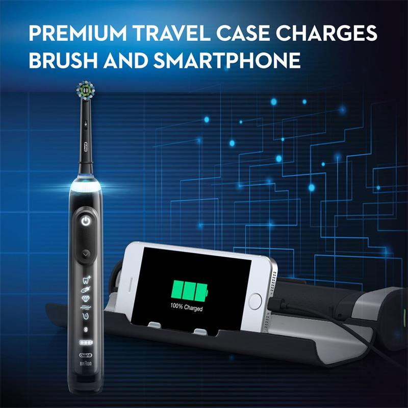 Oral B iBrush 9000 Rechargeable Electric Toothbrush 6 Mode Position Detection and Bluetooth Technology SmartRing Superior Clean