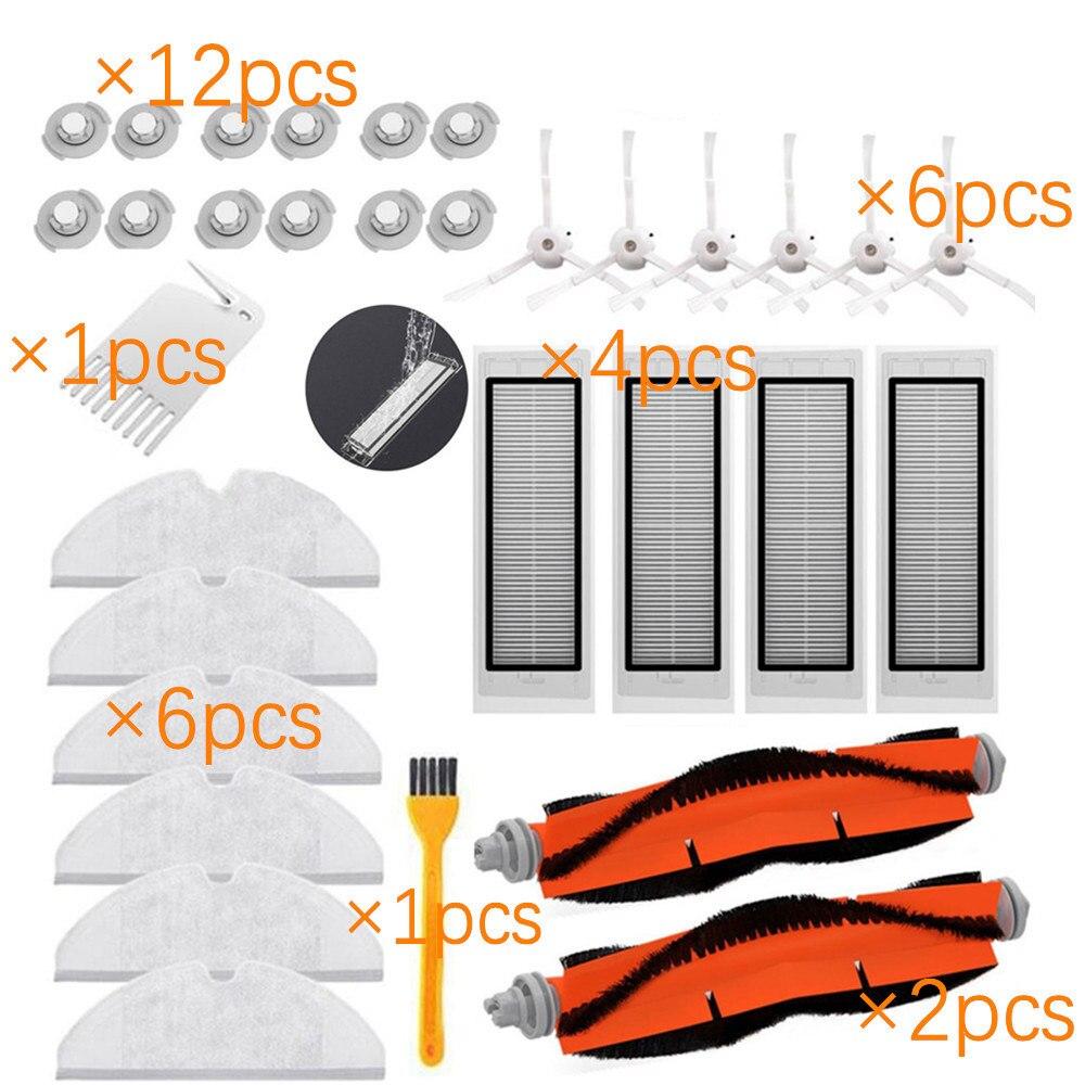 MAGFUN Cepillos Principales Filtros Cepillo Lateral para Mijia 1C Robot de Limpieza de Barrido Repuestos de Aspiradora